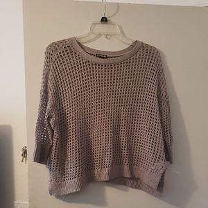 3/4 sleeve beige Express sweater